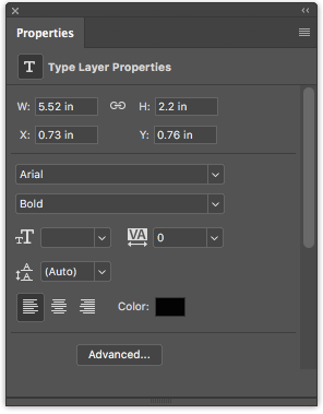 How to Add and Edit Text in Adobe Photoshop Photoshop Properties Panel