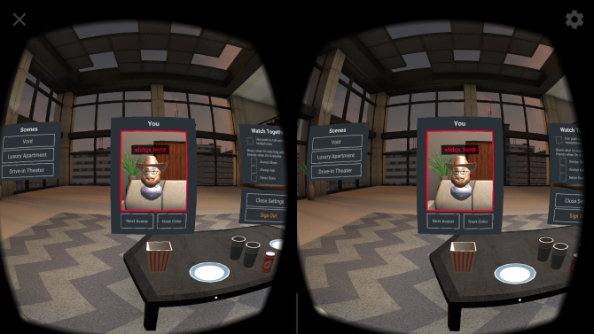 Is It Worth Watching Plex in Virtual Reality? - Avatar-room-change