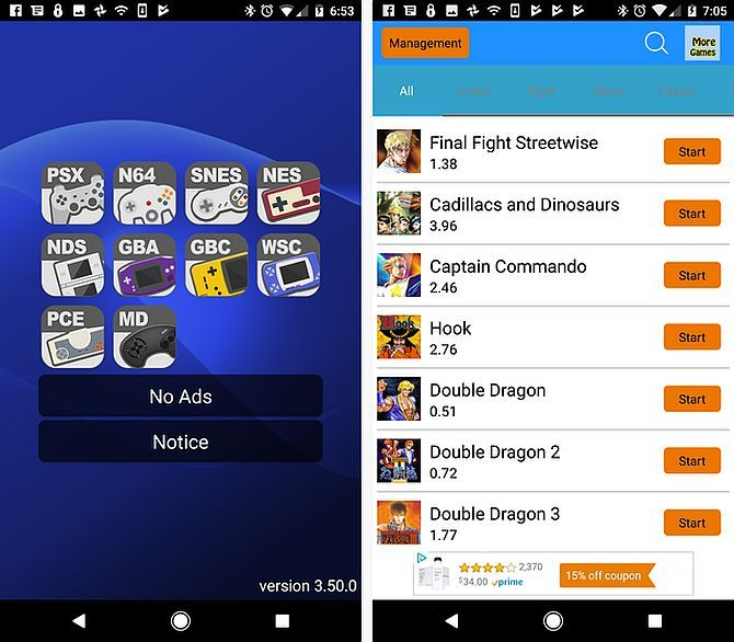 arcade games on android