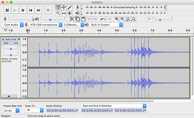 Audacity music production software