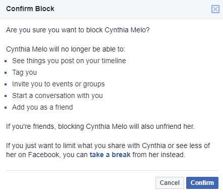 How to Unblock Someone on Facebook block person facebook