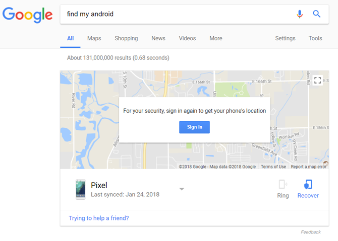 ways to locate lost android phone