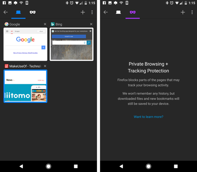 firefox on android - privacy