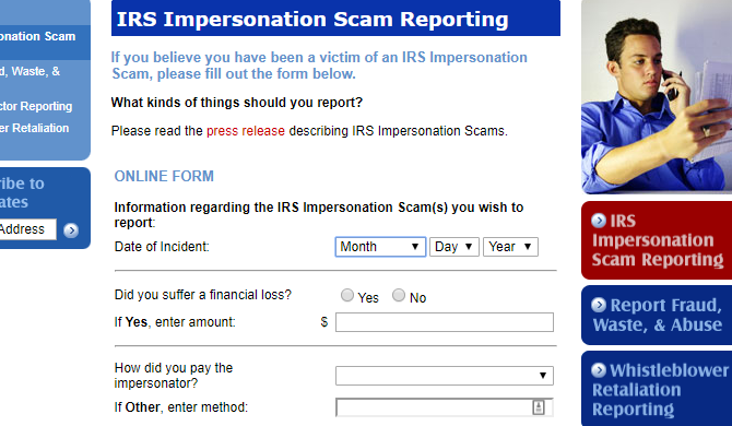 irs scam reporting
