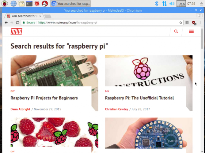 raspberry pi browsers