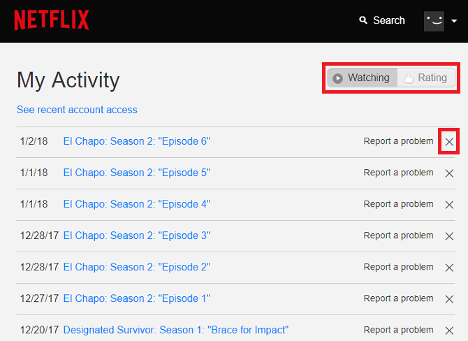 How to Delete Recently Watched on Netflix netflix remove show 670x488