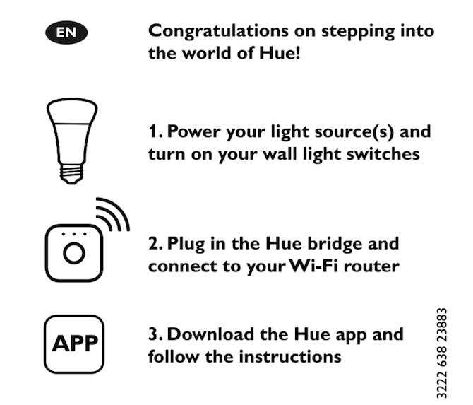philips hue starter kit - installation instructions