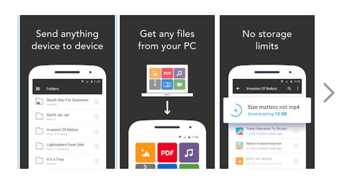 share and sync android files