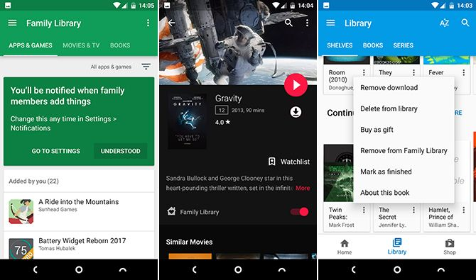 android family library