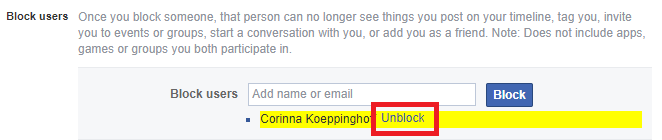 How to Unblock Someone on Facebook unblock person facebook
