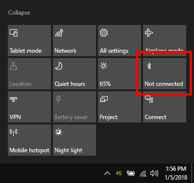 enable bluetooth - windows 10 questions