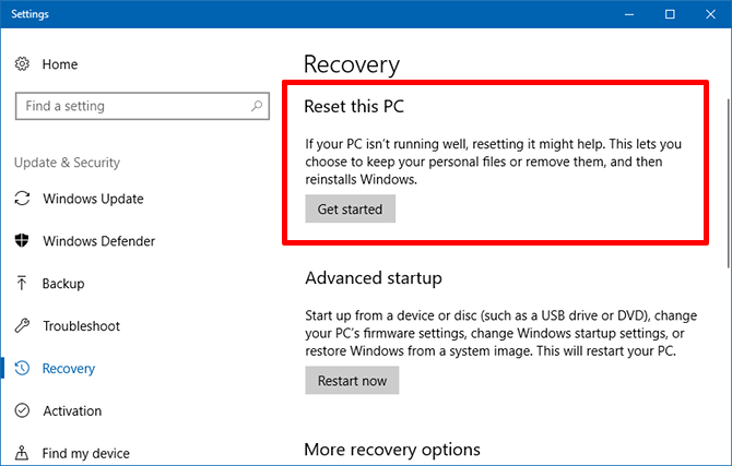factory reset - windows 10 questions