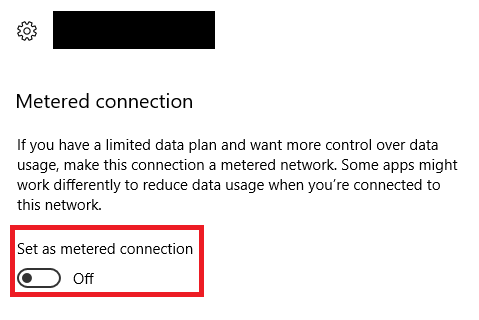 How to Stop Windows 10 Update windows 10 metered connection
