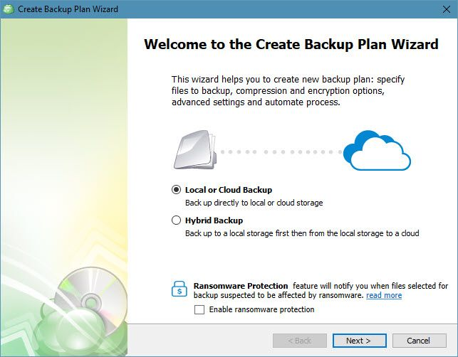 CloudBerry Backup Protects Files on Windows, Mac, and Linux 04 CloudBerry Backup Files Wizard
