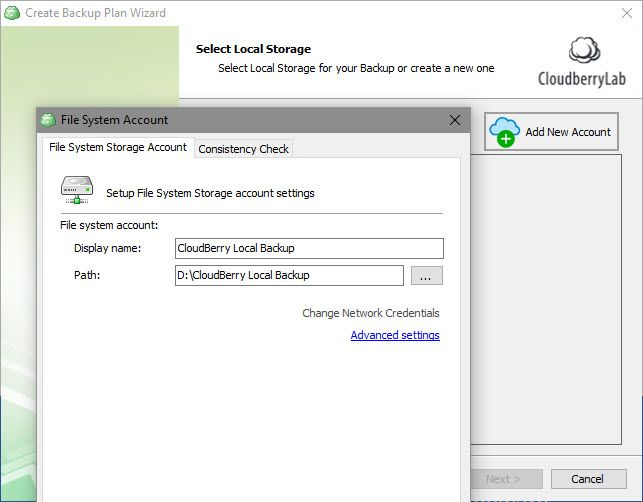 CloudBerry Backup Protects Files on Windows, Mac, and Linux 05 CloudBerry Local Backup Destination