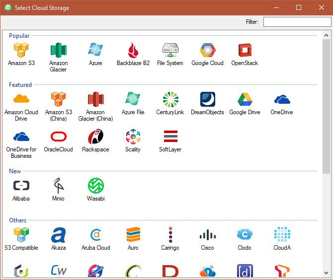 CloudBerry Backup Protects Files on Windows, Mac, and Linux 06 CloudBerry Backup Cloud Destinations