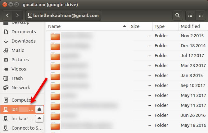 Adding a second Google Drive to Nautilus