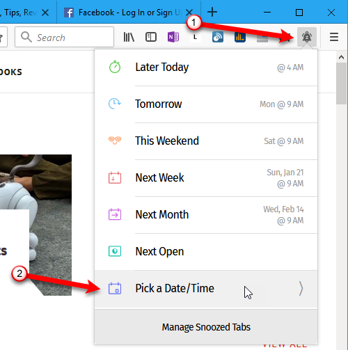 15 Power User Tips for Tabs in Firefox 57 Quantum 19 Snooze tab until Pick Date Time