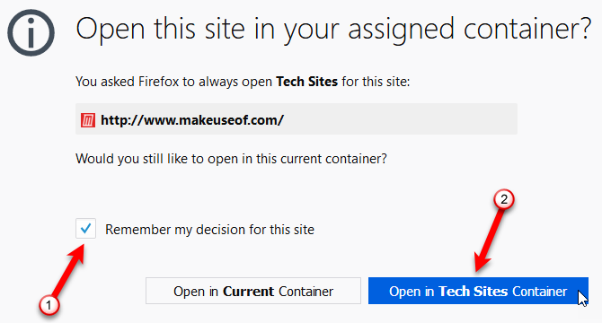 15 Power User Tips for Tabs in Firefox 57 Quantum 38 Open site in container confirmation