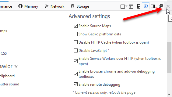 15 Power User Tips for Tabs in Firefox 57 Quantum 65 Close Developer Tools in browser window