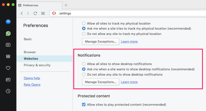 how to turn off notifications chrome firefox safari