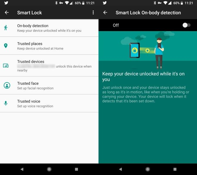 How to Keep Your Android Phone Unlocked When You're Walking Android On Body Smart Lock