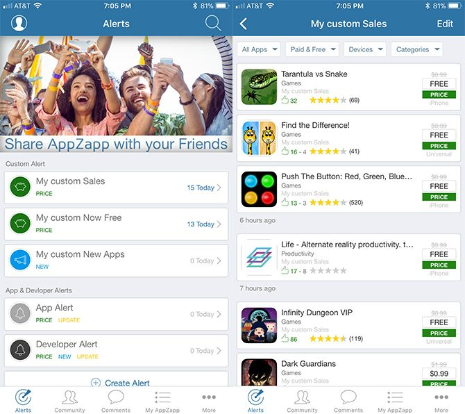 How to See When Paid iOS Apps Become Free AppZapp
