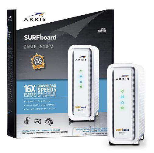 Arris Surfboard SB6183 - Best Routers and Modems for Every Budget