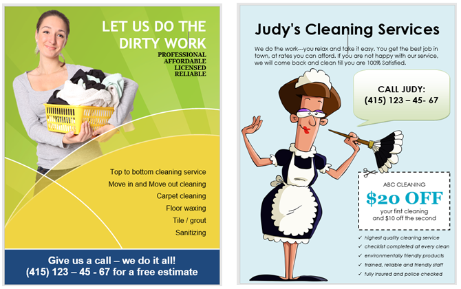 How to make flyers in microsoft word with free templates cleaning service flyer templates saigontimesfo