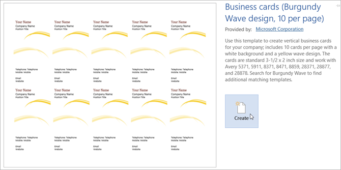 How To Make Free Business Cards In Microsoft Word With Templates - Template for business cards microsoft word