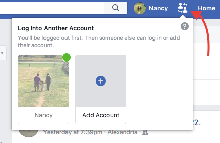 How to Quickly Switch Between Facebook Profiles on One Computer Facebook Switch Accounts 1