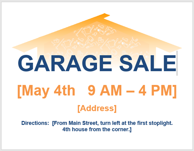 garage sale flyer template publisher