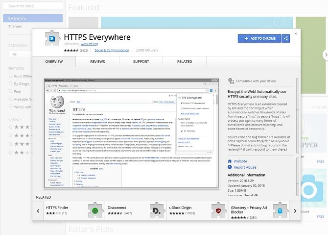 chrome security extensions - HTTPS everywhere