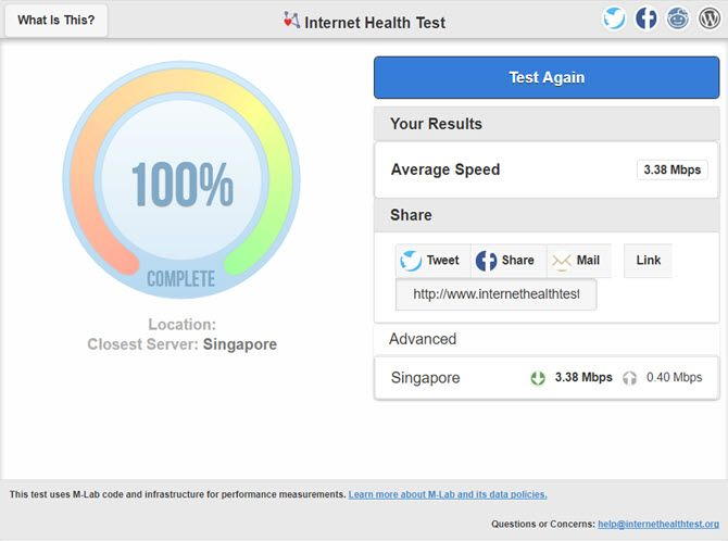 Internet Health Test