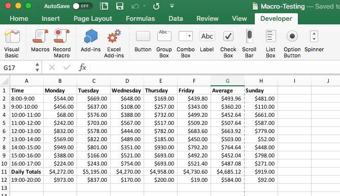 macros in excel on mac to save time