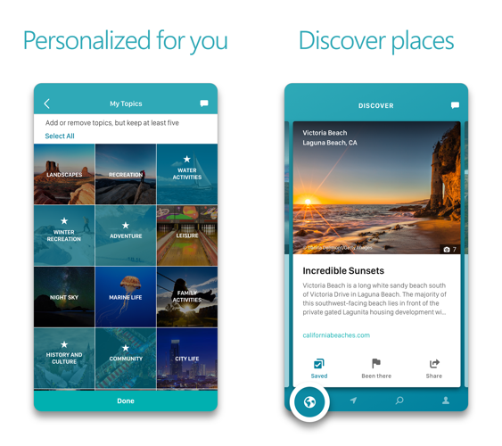 Outings -- A Microsoft Travel App