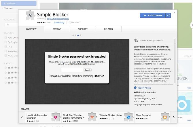 chrome security extensions - simple blocker