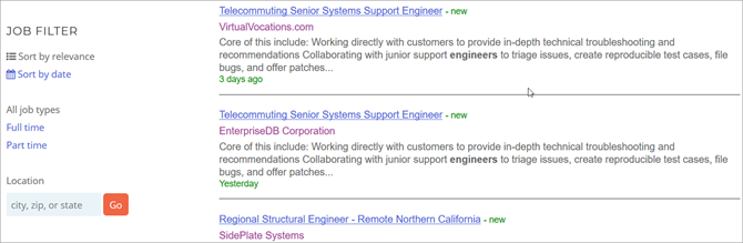 Best engineering job search engine