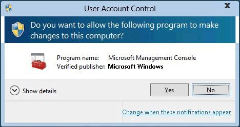 Windows Account consent prompt
