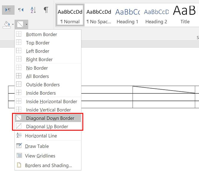 3 Microsoft Word Formatting Tricks You Should Really Know Word Diagonal Border