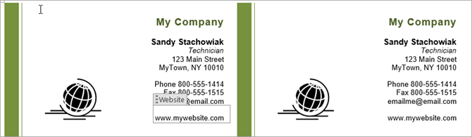 How To Make Free Business Cards In Microsoft Word With Templates - Business card template word