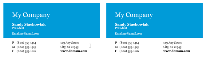 microsoft word business card template