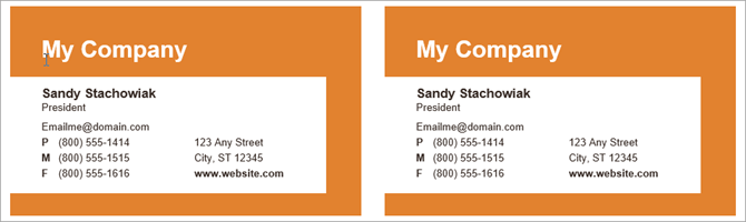 How To Make Free Business Cards In Microsoft Word With Templates