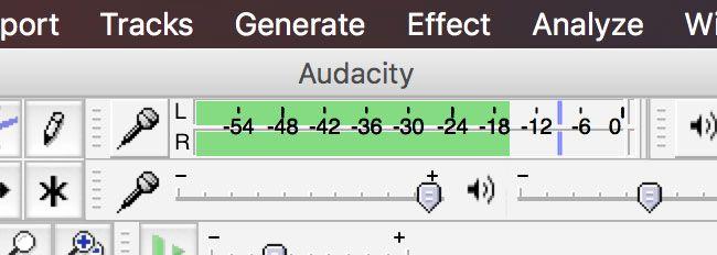 Audacity Monitor