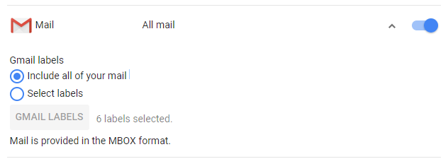 Select specific Gmail labels