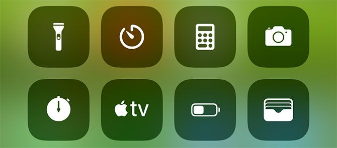 iOS Control Center Bottom Icons