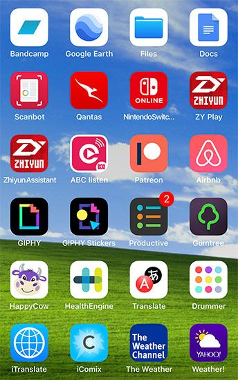 pick a scheme to organize iphone apps