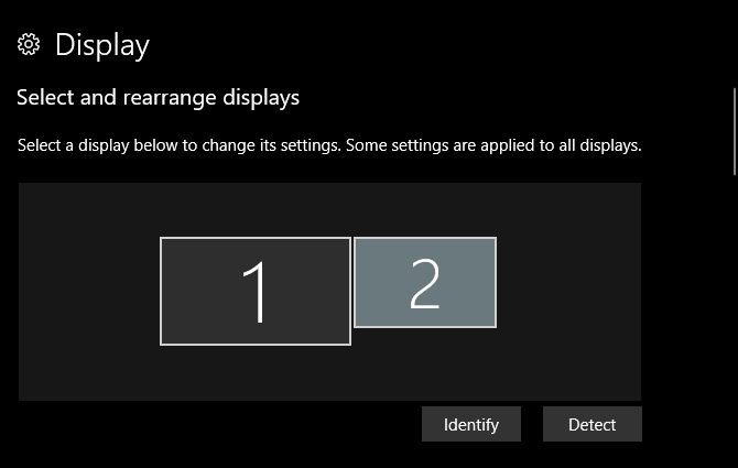 multiple displays windows 10 - display identify