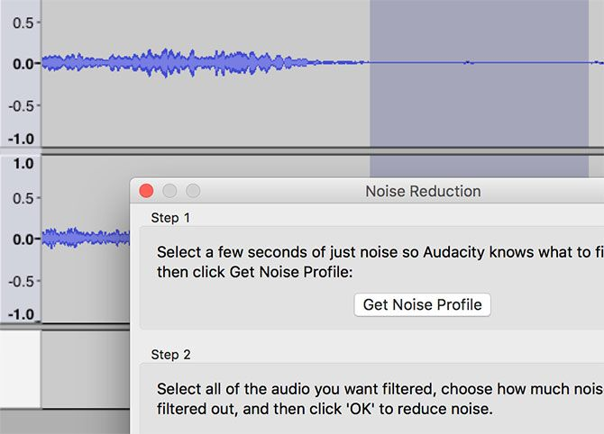 audacity how to get rid of background noise