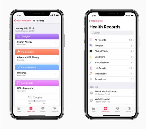 iPhone terms - HealthKit